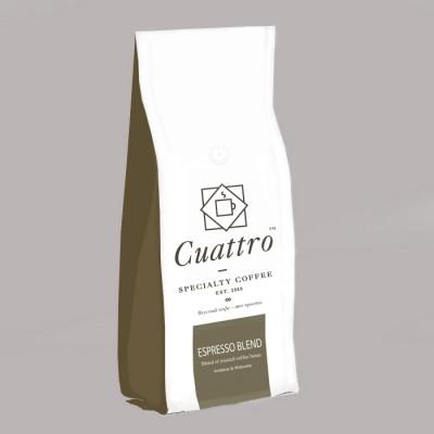 Кофе CUATTRO Espresso Blend (упаковка 1000 г)
